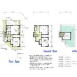 24.5坪・2DKの2階建狭小住宅