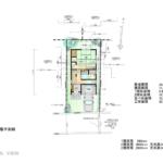 24.5坪の庭付き・2LDKの二階建てガレージ・屋根裏収納付き、木造狭小住宅