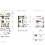 24.2坪の2LDK二階建て狭小木造住宅