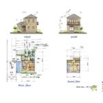 24.5坪・2LDK二階建てガレージ付きの木造狭小住宅